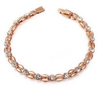 perlen rosa armband großhandel-Designer Armbänder Zirkon Perlen Armbänder Kernform Roségold Farbe Armbänder für Frauen heiße Mode versandkostenfrei