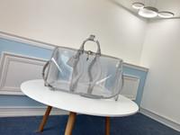 Wholesale travel bag big size resale online - 2019 winter hot fashion woman and man unisex bag designer made of genuine leather transparent big size tote travel bag