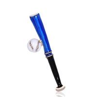 ingrosso lega ornamentale-Spilla blu di forma di baseball dello smalto di colore della lega di oro che spilla le fibbie dell'attrezzatura per le donne Uomini Collare Clip Vestito del vestito ornamentale