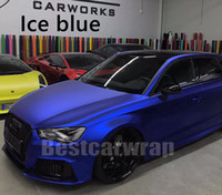 Wholesale carbon fiber mirror covers for sale - Group buy ICE Blue Satin Chrome Vinyl wrap FOR Whole Car Wrap with air Bubble Free vehicle wrap covering film With Low tack glue M quality x20m