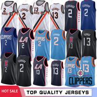 jerseys cosidos de baloncesto al por mayor-Escuela de Baloncesto NCAA Kawhi Leonard 2 hombres de 13 jerseys Paul George jerseys logotipo cosido En Stock S-XXL