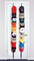 ingrosso ganci di stoccaggio dell'armadio-Regolabile Cap Rack Baseball Cap Hat Holder Rack Organizer Storage Door Closet Hanger + Hook 3 colori