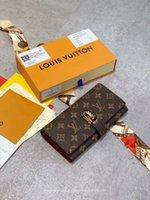 homem, mulher, marca, bolsa venda por atacado-2019 Novos Homens E Bolsas para As Mulheres de Moda Carta Curta de Negócios Multicolor Marca Designer carteiras de couro