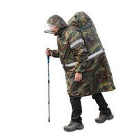 açık sırt çantası yağmurluk toptan satış-Çok fonksiyonlu Açık Askeri Yağmurluklar Sırt Çantası Yağmur Kapağı Yağmur Panço Yansıtıcı Şerit Tırmanma Yürüyüş Kamp Dişli # 17114