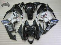 ninja zx6r kaplama kiti batı toptan satış-Ücretsiz Özel 09 10 11 12 ZX6R 2009 Kawasaki ZX6R için kiti kaporta - 2012 ZX636 siyah BATI motosiklet grenaj seti