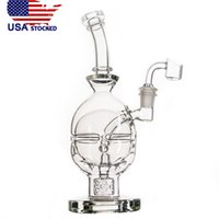 Wholesale water bongs usa online - USA Stocked CCG inch Fab Egg Water Pipes Glass Bongs with Seed Of Life Perc mm joint