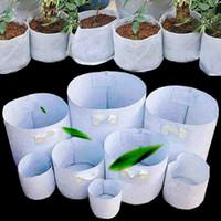 ingrosso fiori per vasi grandi-Tessuto non tessuto Riutilizzabile Soft-Sided altamente sviluppabile traspirante Vasi da coltivazione Borsa con manici Prezzo a buon mercato Fioriera grande