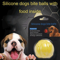 Wholesale food ball dogs resale online - Puppy Cat Training Puzzle Toy Ball Educational Interactive Pet Dog Toys Dogs Bite Ball Toys Resistant Bite Dogs Leak Food Puzzle Ball DH0352