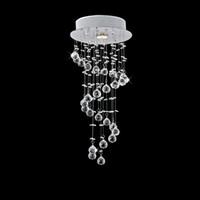ingrosso ha condotto la luce del pendente di cristallo della sfera-Moderno trasparente a spirale sfera LED Lustre Lampadario di cristallo Lampada da soffitto Home Decor sospensione lampada a sospensione lampada a sospensione