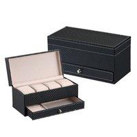 montre hommes achat en gros de-Boîte de montre de rangement pour montre boîte de rangement pour montre titulaire de la collection de bijoux organisateur de rangement pour hommes