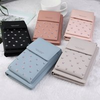 Wholesale cellphone cases wallet purse online – custom Women Leather Messenger Bag Mini Cell Cellphone Pouch Student Crossbody Case Clutch Purse Wallet Girl Small Shoulder Bag Handbag
