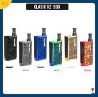 kit de bateria construído mod box venda por atacado-Kangvape Klasik V2 Box Kit Vaporizador Embutido 650 mAh Caixa de Voltagem Da Bateria Variável Mod com 0.5 ml Cartucho Tanque para Óleo Grosso 100% Original