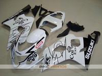 motocicletas gsxr plásticos venda por atacado-Novos kits de carenagens de moto de plástico ABS para Suzuki GSXR 600 750 04 05 Carenagem GSX-R600 R750 2004 2005 corona personalizado Pára-brisas Grátis