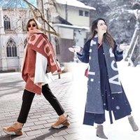 ingrosso sciarpe di grandi dimensioni-2019 Unisex Moda Inverno Designer 100% Cachemire Sciarpa Donne Uomini di marca grande formato classico Acne lettera Sciarpe Sciarpe Pashmina Infinity