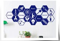 adesivos de parede para escola venda por atacado-Cientista Química Escola Amante Adesivo Escola de Ciências Laboratório Químico Adesivos de Parede de Vinil Crianças Removíveis Decalques de Parede Home Decor Quarto