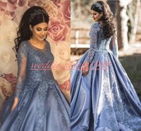 Wholesale back models for sale - Stunning Plus Size Arabic Evening Dresses Dubai Long Sleeve Lace Sequins African Party Formal Special Occasion Pageant Gowns Prom Dress