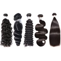 Wholesale unprocessed virgin hair vendors resale online - Unprocessed Body Straight Loose Water Curly Human Hair Weaves Vendors Brazilian Peruvian Malaysian Remy Hair Bundles