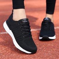 zapatillas ligeras para correr al por mayor-Verano de las mujeres Zapatos de malla zapatillas de deporte casual de las señoras zapatos planos de tejidos ligeros y transpirables zapatillas de deporte de las mujeres de los zapatos corrientes