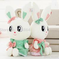 Wholesale gift factory stuff toys online - 1PC Big Eyes Rabbit Plush Toy Rabbit Soft Stuffed Toy Factory Supply Christmas Gift cm