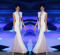 vestidos de manga branca venda por atacado-
