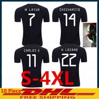camisetas de fútbol v al por mayor-S-XXXXL 2019 camisetas de fútbol de México de copa de oro H. LOZANO G. DOS SANTOS VELA CHICHARITO camisetas de fútbol GUARDADO JIMENEZ MARQUEZ CARVOS V RAUL