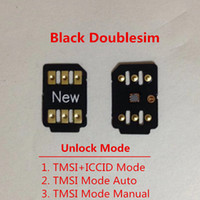 Wholesale free sim card mobile for sale - Group buy Free DHL New Double sim Unlock Card for iOS X for US T mobile Sprint Fido DoCoMo other carriers Turbo sim