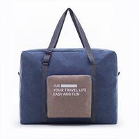 naylon taşıma çantası toptan satış-Taşınabilir Katlanabilir Büyük Kapasiteli Seyahat Çantası Su Geçirmez sağlam taşıma çantası Taşınabilir Seyahat Çanta Moda naylon su geçirmez çanta erkekler için bir