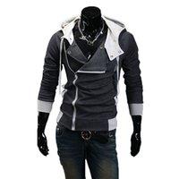 ingrosso cappotto top negozio-Felpa con cappuccio da uomo Zip Up Felpa Slim Fit Autunno Top Outwear caldo NYZ Shop