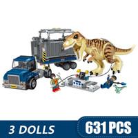 juguete de transporte al por mayor-631 UNIDS Pequeños Bloques de Construcción de Juguetes Compatible con Legoe T. rex Transporte Regalo para niñas niños niños DIY