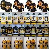 otantik nhl hokey mayo toptan satış-2020 Pittsburgh Penguins Jersey 87 Sidney Crosby 71 Evgeni Malkin Phil Kessel Kris Letang Lemieux Matt Murray Guentzel Hokeyi Jersey