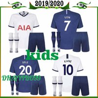 Wholesale windproof jersey for sale - Group buy 19 Spurs kids home soccer Jersey Kits Tottenham Kane Son Alderweireld Eriksen Dele HOME AWAY child Football Shirt