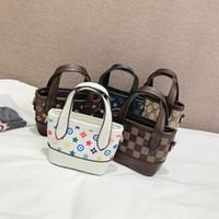 Wholesale cute chain handbags resale online - Kids Brand Handbags Colors L Designer Mini Purse Shoulder Bags Girls Cute Chain Bag OOA6998