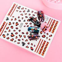 ingrosso disegno del leopardo di arte del chiodo-1 pz Nuovo 3D Sexy Disegni 9 Stili Modello Leopard Trasferimento Nail Art Stickers Ornamento Decalcomanie Manicure Nail Decorazioni Suggerimenti