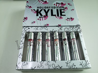 Wholesale kylie lipstick holiday edition online - brand lip gloss Holiday Christmas Edition Lipstick Vault color kylie Matte Lipsticks new year gift fashion item Days lipgloss kit New