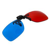 gözlük olmadan 3d toptan satış-2x Kırmızı ve Camgöbeği Gözlükleri 3D Filmler, Oyun ve TV için Çoğu Reçeteli Gözlüke Uyuyor (1x Klip Açık; 1x Anaglyph stili)