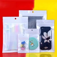 Wholesale electronic shops for sale - Group buy 12 cm Zipper Clear White Pearl Retail Plastic Package Bag Gift Jewelry Phone Case Electronic Accessories Poly PP Shopping Packing Bags