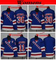 jersey boys new york al por mayor-Mujeres New York Rangers 2019 11 Mark Messier 30 Henrik Lundqvist Camisetas de hockey para damas Niños Niñas Niños camisas cosidas