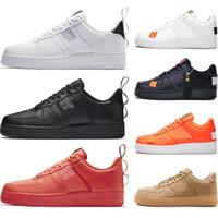 cut shoes al por mayor-Nike air force Hot One 1 Dunk Hombres Mujeres Flyline Zapatillas Deportivas Skateboarding Ones Shoes Cut Negro Blanco Trigo Zapatillas de deporte 36-45