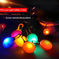 Wholesale Light up Dog Collar LED lighting lamp LED Light emitting pet Puppy pet accessories pendant flashing Keychain flash Dog Tag DH0192