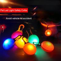 yanıp sönen köpek etiketleri açtı toptan satış-Light up Köpek Yaka LED aydınlatma lambası LED Işık yayan pet Köpek pet aksesuarları kolye yanıp sönen Anahtarlık flaş Köpek Etiketi DH0192