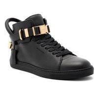 ingrosso b blocco-2017 Designer di lusso di marca Sneakers Top pelle bovina Moda uomo confortevole casual scarpe basse scarpe alte scarpe rosse / nero / bianco