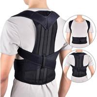 apoyos para la espalda al por mayor-Entrenador de la cintura Volver Postura Corrector Hombro Lumbar Brace Columna de soporte Cinturón ajustable Corso de corrección de la postura del corsé para adultos