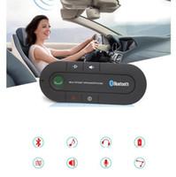 bluetooth viseira do carro venda por atacado-Sun Visor Kit Mãos Livres para Carro Bluetooth Speakerphone Bluetooth MP3 Player de Música Sem Fio Bluetooth Receptor Speaker KKA6756