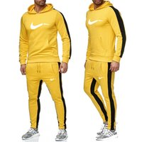 orange sportkleidung großhandel-New 2019 Brand New Fashion Anzug Männer Sportswear Print Männer Pullover Pullover Hip Hop-Männer Anzug Sweatshirts Bekleidung