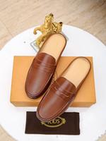 ingrosso scarpe in pelle suola-Nuove scarpe casual da uomo di marca di fascia alta importati in pelle faccia maiale fodera in gomma suola mezza pistoni degli uomini scarpe 38-45 metri spedizione gratuita
