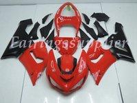 carenado para kawasaki ninja rojo zx6r al por mayor-OEM Calidad Nueva ABS Carenados Moldes de Inyección kits de ajuste del 100% para Kawasaki Ninja ZX6R ZX6R 636 2005 2006 Bod conjunto ywork Brillo Rojo