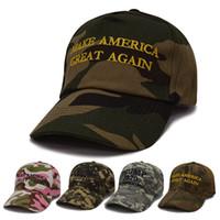 esporte de moda camuflagem venda por atacado-MANTENHA boné de beisebol América grande camuflagem Bordado Trump 2020 Chapéus Homens Mulheres Moda Unissex Esporte Exército Camo Snapback Hat BH1917 TQQ