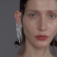 Wholesale bohemian tassel earrings for sale - Group buy New Shiny Rhinestone Tassel Dangle Earrings for Women Fashion Jewelry Bohemian Lady s Clip Statement Earrings Accessories