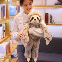 Wholesale nano dolls resale online - 1pc Simulation Sloth Plush Toy Soft Animal Stuffed Lifelike Sloth Dolls Bear Toys For Baby Kids Birthday Gift cm SH190913