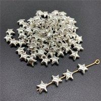 encantos formas antigas venda por atacado-Beads Cap 500pcs 6x6mm Alloy antiga prata Charms Estrela Charms Forma pendente para fazer jóias DIY Acessórios